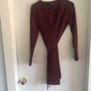 American Apparel long sleeve wrap dress